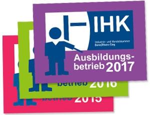 IHK Ausbildungsbetrieb 2017 - Die Erfolgsbringer