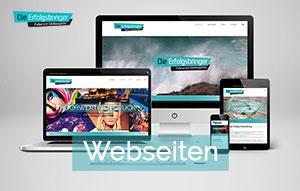 Webseiten Homepage Gestaltung - Die Erfolgsbringer