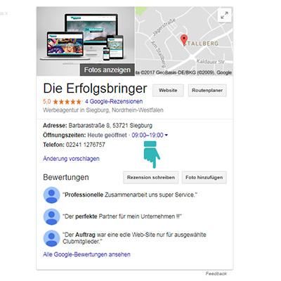 Google Bewertung schreiben - Schritt 3