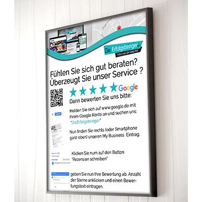 Poster Google Bewertung