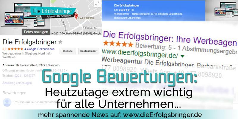 Google Bewertung schreiben - Warum sind Sie so wichtig ?