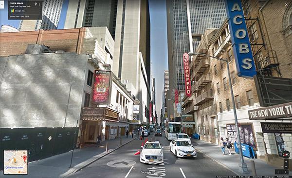 Die Erfolgsbringer Google Street View Bild aus New York
