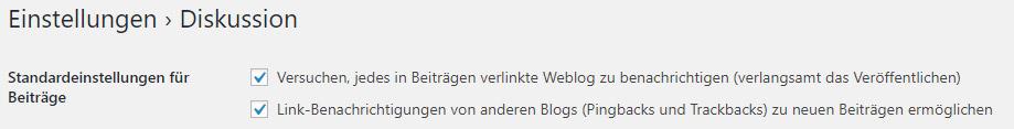 Die Erfolgsbringer FAQ-Was sind Pingbacks-Einstellungen bei WordPress
